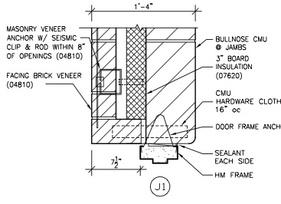 how to put doors in load bearing masonry
