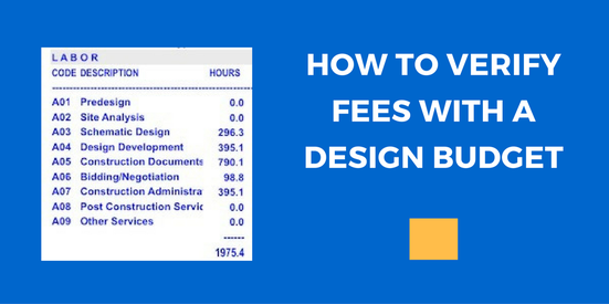 Verifying Architectural Fees